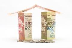 Hong Kong pengar Arkivbild
