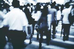 Hong Kong People Commuters City Walking Pedestrian Concept Royalty Free Stock Image