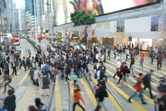 Hong Kong people. Daily life of millions of people in Hong Kong Stock Photography