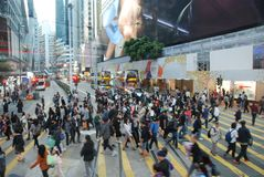 Hong Kong people. Daily life of millions of people in Hong Kong Stock Photo