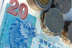 hong kong pieniędzy Zdjęcia Royalty Free