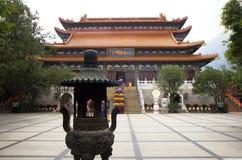 Hong Kong. The po Lin monastery on Lantau island. Royalty Free Stock Photo