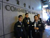 Hong Kong Police Brace für Proteste Stockfoto