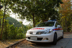Hong Kong Police Car Stock Image