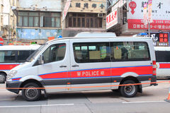 Hong Kong polisfordon Royaltyfri Bild