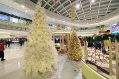 Hong Kong Pom Pom Purin christmas decoration in Metro City Plaza Royalty Free Stock Image