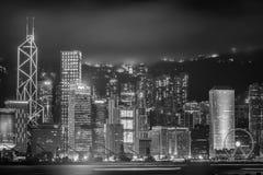 Hong Kong, Porcelanowa linia horyzontu od Wiktoria schronienia fotografia royalty free