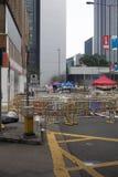 Hong Kong, Porcelanowy Oct 4, 2014, Zajmują centralę, Protestors blokują drogi w Hong Kong Środkowej dzielnicie biznesu Zdjęcie Stock