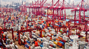 Hong Kong port Royalty Free Stock Images