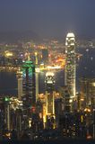 Hong Kong Portrait. Portrait Shot of Hong Kong at Night Royalty Free Stock Photos