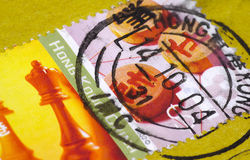Hong Kong Postage. Photo of Hong Postage Stamp Royalty Free Stock Photography