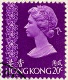Hong Kong Postage Stamp d'annata Fotografia Stock Libera da Diritti