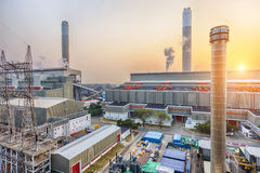 Hong Kong power station at sunset Royalty Free Stock Photography