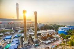 Hong Kong power station at sunset Stock Image