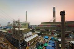 Hong Kong power station at sunset Royalty Free Stock Photos