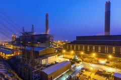 Hong Kong power station at sunset Stock Images