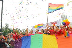 Hong Kong Pride Parade 2013 Royalty-vrije Stock Afbeelding
