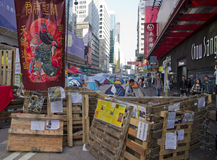 Hong Kong pro-democracy protests. Mong Kok, Kowloon Royalty Free Stock Photography