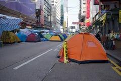 Hong Kong pro-democracy protests. Mong Kok, Kowloon Royalty Free Stock Photos