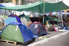 Hong Kong pro-democracy protests. Mong Kok, Kowloon Royalty Free Stock Images