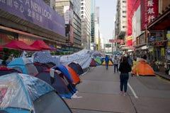 Hong Kong pro-democracy protests. Mong Kok, Kowloon Stock Image