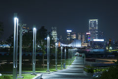 Hong Kong promenad tamar arkivfoto