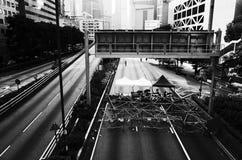 Hong kong protesters standoff 2014 Stock Photo
