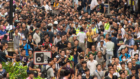 Hong Kong Protesters Standoff. A scene of standoff by pro-democracy protesters stock photo