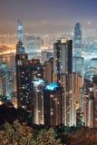 Hong Kong przy nocą obrazy stock