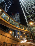 Hong Kong przy noc Obraz Royalty Free