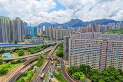 Hong kong public estate buildings Royalty Free Stock Images
