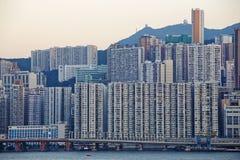 Hong Kong public house sunset Royalty Free Stock Images
