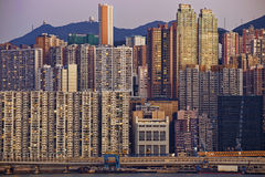 Hong Kong public house sunset Stock Photography