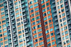 Hong Kong public housing apartment block Stock Image