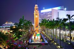 Torre de pulso de disparo de Hong Kong Imagens de Stock