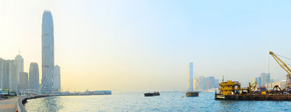 Hong Kong quayside Royalty Free Stock Images