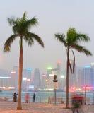 Hong Kong quayside Royalty Free Stock Images