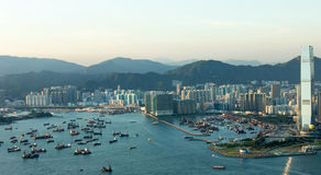 Hong Kong Queen Victoria Harbor Photo stock