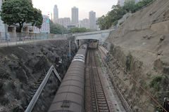Hong kong railway Royalty Free Stock Images