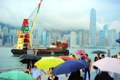 Hong Kong in the rain Royalty Free Stock Photography