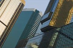 Hong Kong reflections stock photography