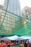 Hong Kong-Regenschirmrevolution in Mongkok Stockbilder