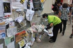 Hong Kong-Regenschirmrevolution in Mongkok Stockfotos