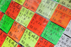 Hong Kong rental and selling houses announcement Stock Photography