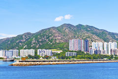 Hong Kong residential area along coast Royalty Free Stock Photography