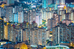 Hong Kong Residential District aereo Fotografie Stock
