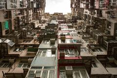 Hong Kong Residential liso foto de stock royalty free