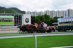 Hong Kong Reunification Cup Jockey Club horse racing Royalty Free Stock Photos