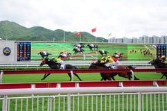 Hong Kong Reunification Cup Jockey-Clubpaardenrennen Royalty-vrije Stock Afbeeldingen