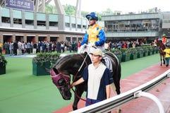 Hong Kong Reunification Cup Jockey-het paardenrennen van Clubjoã£o Moreira Royalty-vrije Stock Foto